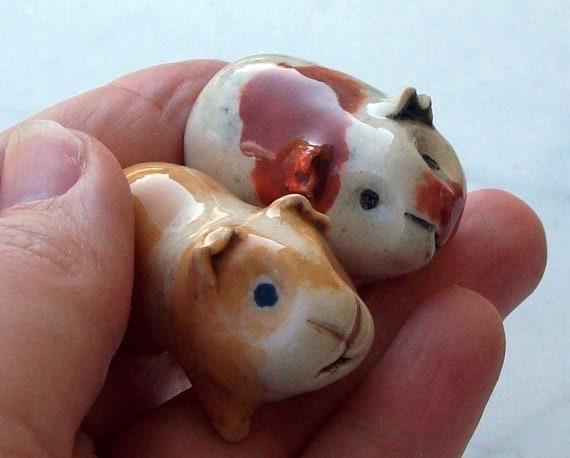 Guinea Pig / Cavy Handmade  Miniature Figurine