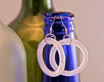 recycled beer bottle earrings
