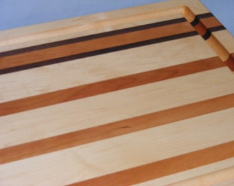 Extra Large Cutting Board with Groove.  Maple or Cherry.  Free Shipping