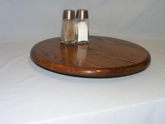 Lazy Susan 14 Inch Dark Oak  . Free Shipping