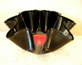Willie Nelson Record Bowl Made From Vinyl Album - Country Music Recycled