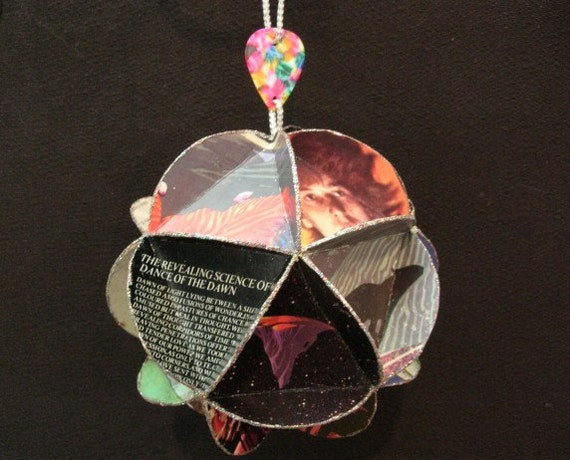 Yes Band Album Cover Ornament Made Of Record Jackets - Roger Dean Graphics - Music