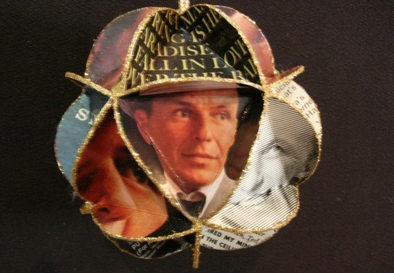 Frank Sinatra Album Cover Ornament Made Of Record Jackets - Music Recycled