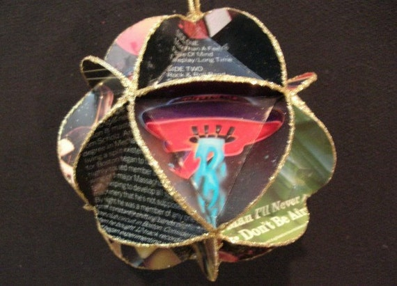Boston (Band) Album Cover Ornament Made Of Record Jackets