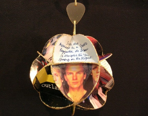 The Police Album Cover Ornament Made Of Record Jackets: Sting, Music, Recycled