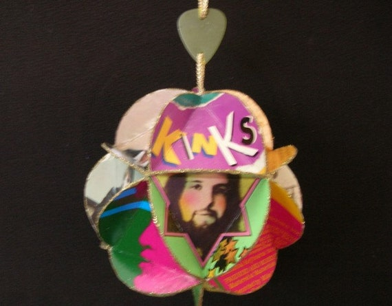 The Kinks Album Cover Ornament Made Of Record Jackets: Ray Davies