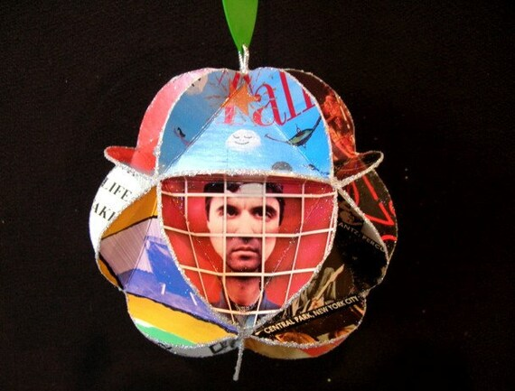 Talking Heads Album Cover Ornament Made Of Record Jackets - David Byrne
