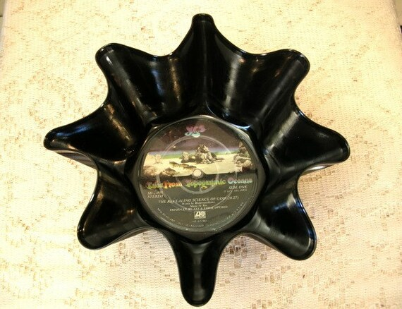 YES Band Record Bowl Made From Vinyl Album: Music Recycled