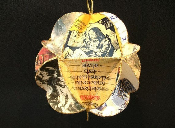 Jethro Tull Album Cover Ornament Made Of Record Jackets: Music, Recycled