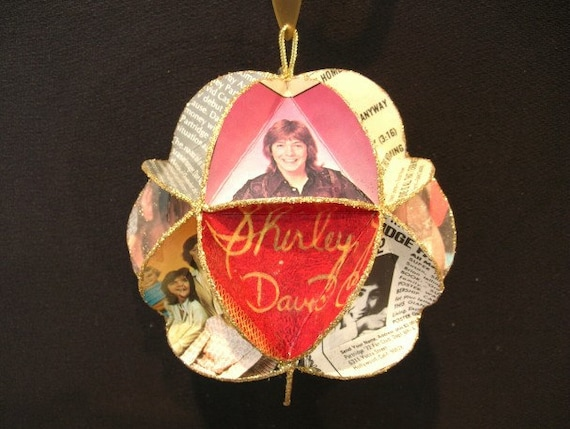 Partridge Family Album Cover Ornament Made of Record Jackets - David Cassidy Shirley Jones