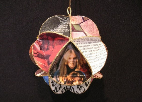 Allman Brothers Album Cover Ornament Made Of Record Jackets Gregg Duane Allman