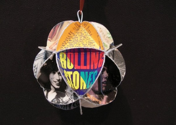 Rolling Stones Album Cover Ornament Made Of Record Jackets: Mick Jagger