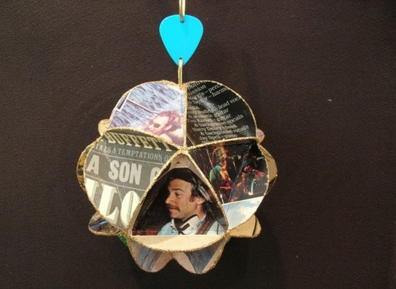 Jimmy Buffett Album Cover Ornament Made Of Record Jackets
