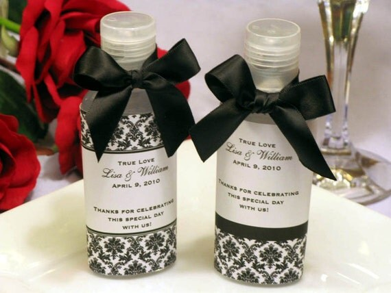 Damask hand sanitizer favors bridal shower wedding by for Hand sanitizer bridal shower favors
