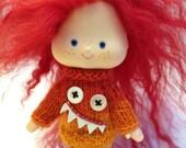 Vintage Strawberry Shortcake doll mini Monster sweater dress pdf pattern
