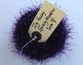 Sparkly Fuzzy yarn - 25g of yarn perfect for Blythe Monster sweaters - Purple