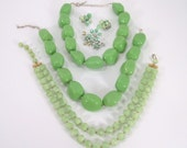 Awesome Collection of Vintage Green Jewelry