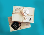 SALE: 7 Folded Greeting Cards and Enveloples Box Set - Thank You Snail (black/white)