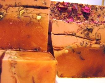 SALE SOAP - 3 lb. Orange Rose Vegan Handmade Soap Loaf, Wholesale Soap Loaves