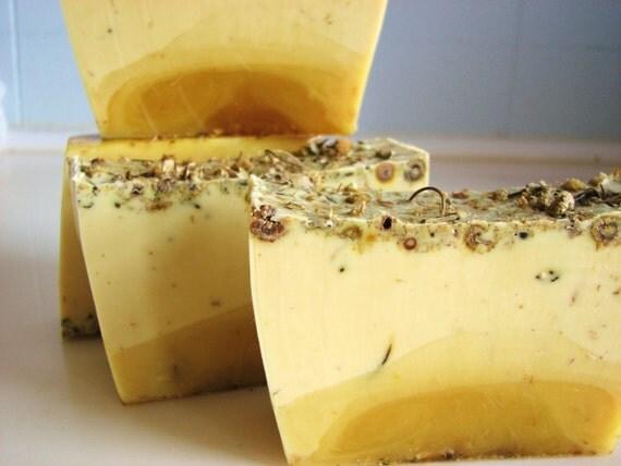 SOAP - 3 lb. Lemon Chamomile Vegan Handmade Soap Loaf, Wholesale Soap Loaves