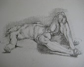 Man at rest, Study of a male nude, A4