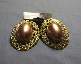 vintage baroque style earrings, costume jewelry SALE