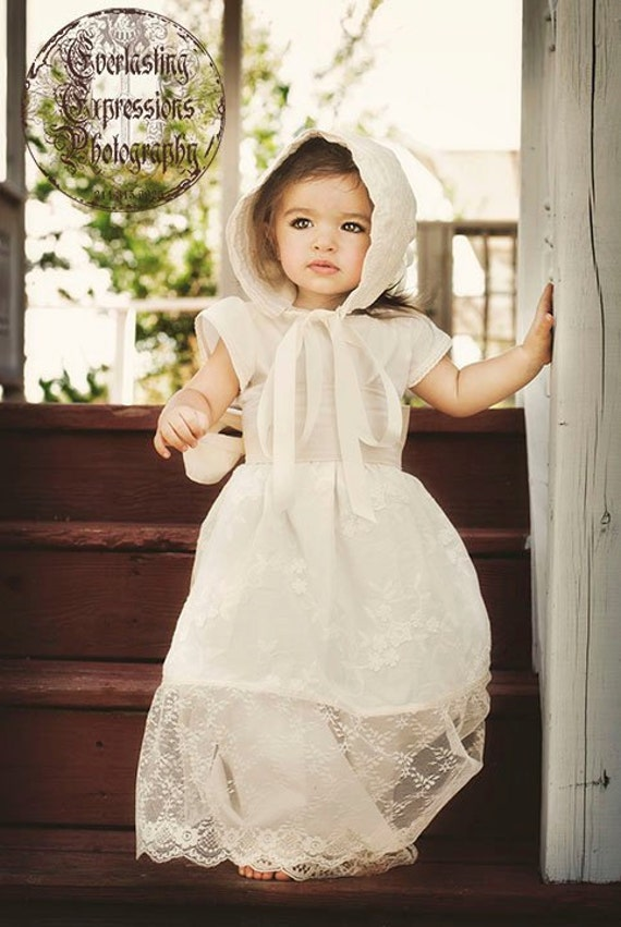 Girls Heirloom Quality Gown in Ivory -- Perfect for Special Occasions, Photo Shoots and Parties