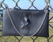 Industria Black Faux Leather Hip Purse