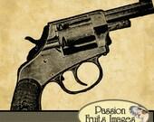 Vintage Bulldog Revolver Digital Image File- Instant Download
