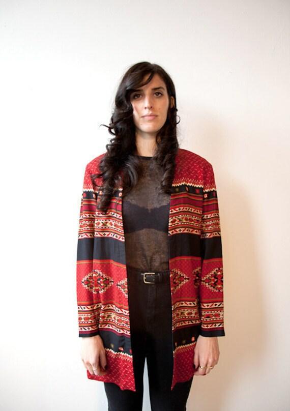 southwestern print blazer