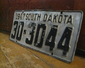 1947 SD License Plate