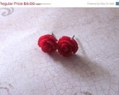40% OFF Red Rose Earrings - Buy 3 Get 1 Free