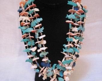 Denise Yazzi 4 strand fetish necklace