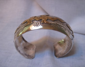 Sterling and gold filed lizard bracelet