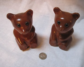 Vintage set of  myrtlewood bears