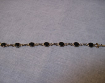 Vintage Emmons gold tone and black tone bracelet