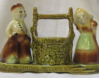 Vintage Shawnee dutch boy and girl planter  ON SALE