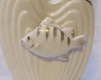 Vintage Wales candle holder with fish made in Japan  ON SALE