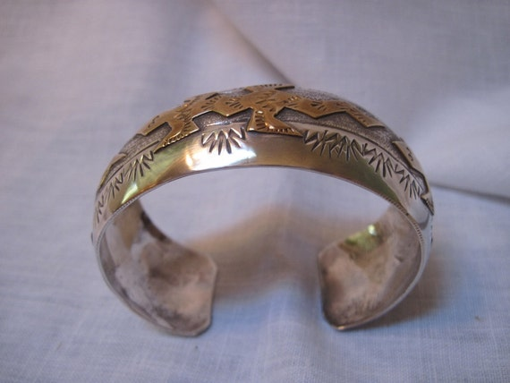 Sterling and gold filed lizard bracelet