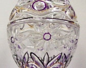 30% OFF THIS WEEKEND Hand Painted Crystal Egg Trinket Box
