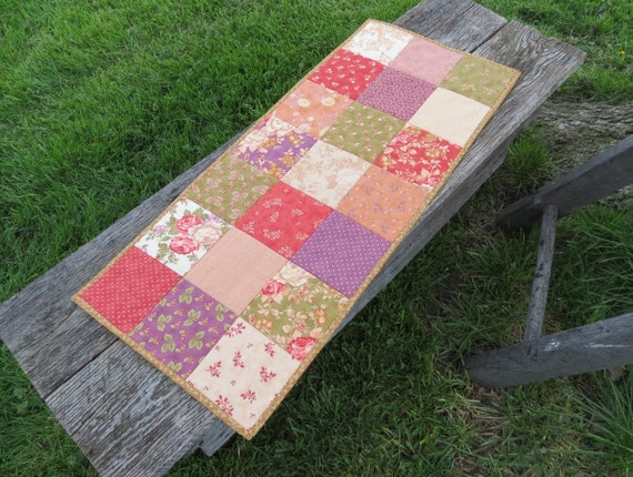 Country Cottage Quilted Table Runner