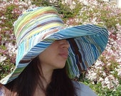 Funky Wide Brim Sun Hat by Freckles California