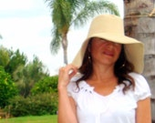Floppy Hat Women CUSTOM MADE Hat Select Color and size Wide Brim cotton hat Freckles California