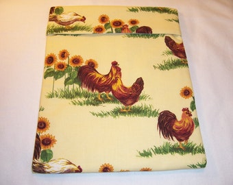 Handmade  Microwave Baked Potato Bag,Roosters,Chickens,Baked Potato,Microwave Potato Bag,Kitchen,Dining,Serving,Gifts