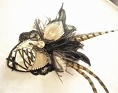 Reserved for SHANBROWN78 - STEAMPUNK Wedding Fascinator-Corset and Butterfly with Bling