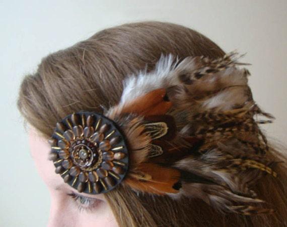 Lady Hawk Bohemian Feather Barrette