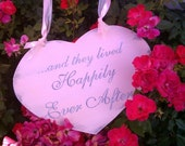 Wedding Sign SPARKLE Heart PINK Wedding Happily Ever After Sign FAIRYTALE Wedding Photo Prop