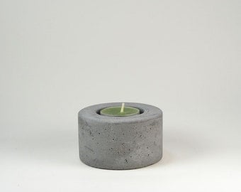 No.2  Round Concrete  Tea Light  Candle Holder