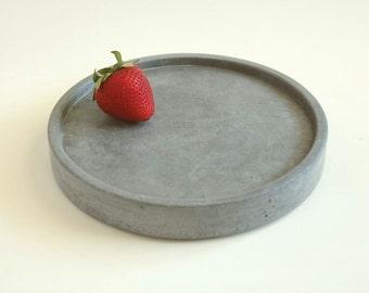 Round Concrete Tray