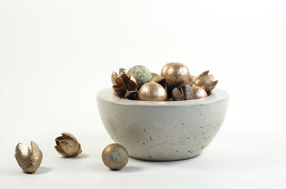 SALE 50% OFF, Small Concrete Candy Bowl - Light Grey